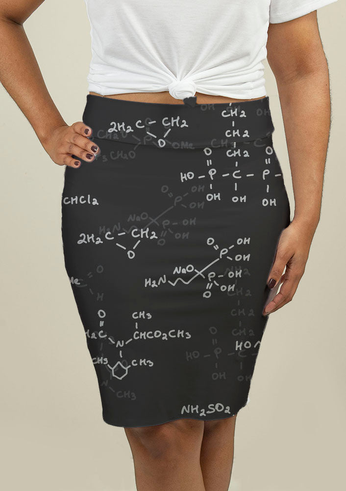 Pencil Skirt with Seamless pattern - fashionbests