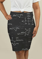 Pencil Skirt with Seamless pattern