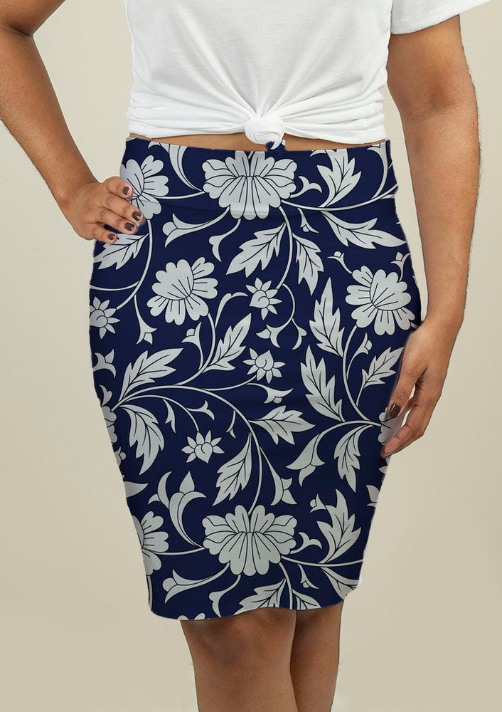 Pencil Skirt with Chinese pattern - fashionbests