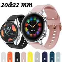 For Huawei Watch GT2 GT 2 GT 42mm 46mm Smart Watch 20mm watch strap Silicone Watchbands ремешок 22mm watch band bracelet - fashionbests