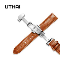 UTHAI Z09 Genuine Leather Watch Strap 20MM 22MM Stainless  Smart watch universal strap 12-24MM Watchbands