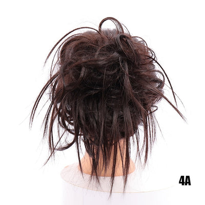 LUPU Synthetic Chignon Messy Scrunchie Elastic Band Hair Bun Straight Updo Hairpiece High Temperture Fiber Natural Fake Hair - fashionbests