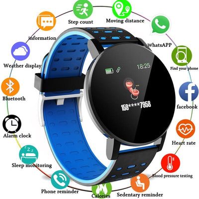 FXM 2020 119Plus Bluetooth Smart Watch Menes Watch Blood Pressure Smartwatch  Sport Tracker WhatsApp For Android Ios - fashionbests