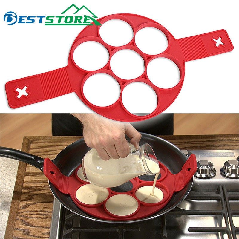 Pancake Maker  Nonstick Easy Fantastic Egg Omelette Mold Kitchen Gadgets Cooking Tools Silicone - fashionbests