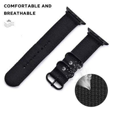Hot Sell Nylon Watchband for Apple Watch Band Series 5/4/3/2/1 Sport Leather Bracelet 42mm 44mm 38mm 40mm Strap For iwatch Band - fashionbests