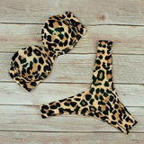 High Waist Bikini Swimwear Women Swimsuit 2020 Leopard Brazilian Bikini Set Push Up Bathing Suit Female Summer Beachwear L - fashionbests