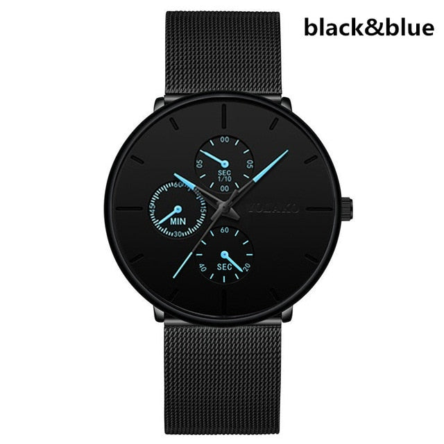 Relogio  2020 Mens Watches Male Clock Quartz Watch Casual Slim Mesh Steel Men Watch Waterproof Designer Sport Watch