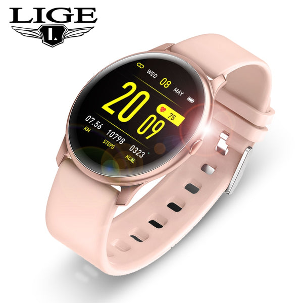 Women Men Smart Electronic Watch Luxury Blood Pressure Digital Watches  Calorie Sport Wristwatch DND Mode For Android IOS