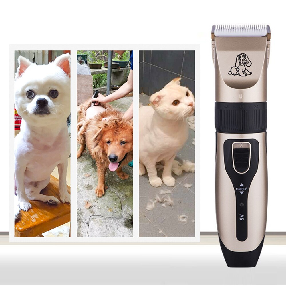 Pet Dog Cat Clipper Hair Grooming Tool Cordless Trimmer Shaver Comb Razor Rechargeable Beauty Kit For Furry Animals - fashionbests