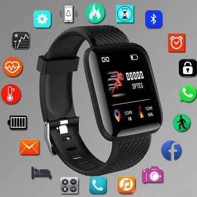 Smart Watches  LED Heart Rate Watch Men Women Sports Watches Smart Band Sport 116plus Smartwatch Free shipping