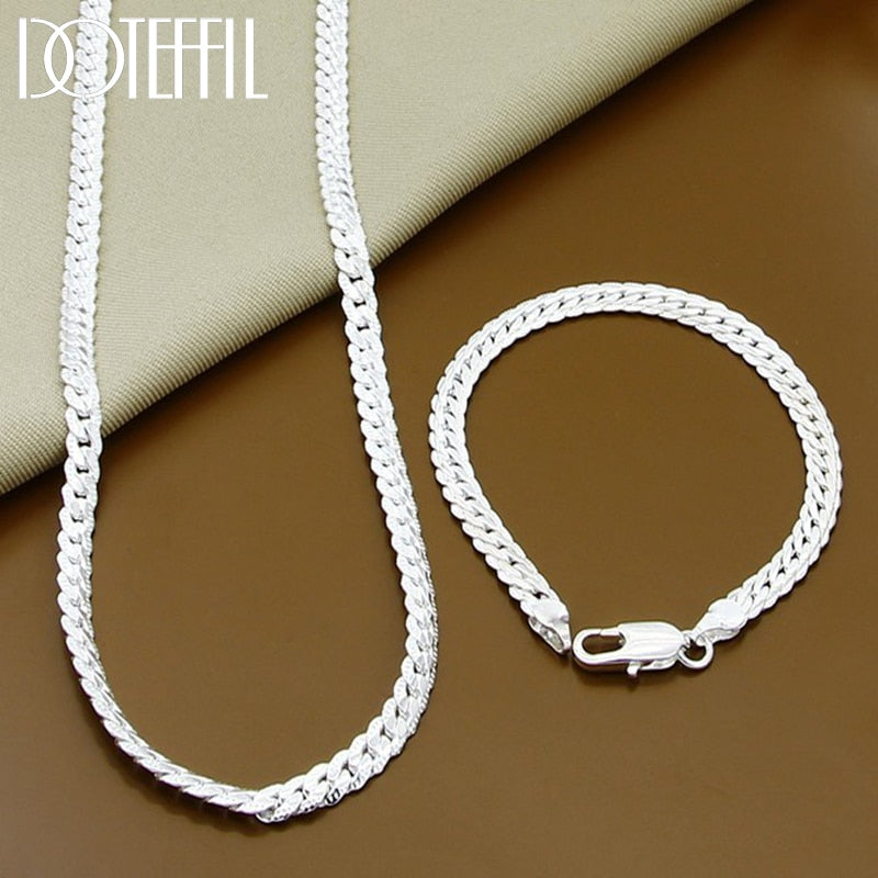 Full Sideways 925 Sterling Silver Necklace