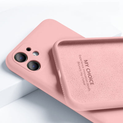 For iPhone 11 12 Pro SE 2 Case Luxury Original Silicone Full Protection Soft Cover For iPhone X XR 11 XS Max 7 8 6 6s Phone Case - fashionbests