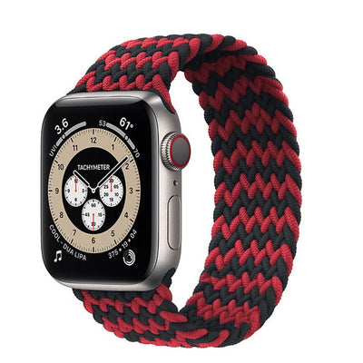 Braided Solo Loop For Apple watch band 44mm 40mm 38mm 42mm Fabric Nylon Elastic belt bracelet iWatch series 3 4 5 se 6 strap