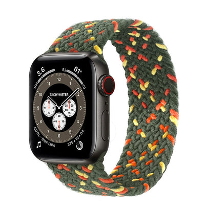 Braided Solo Loop For Apple watch band 44mm 40mm 38mm 42mm Fabric Nylon Elastic belt bracelet iWatch series 3 4 5 se 6 strap - fashionbests