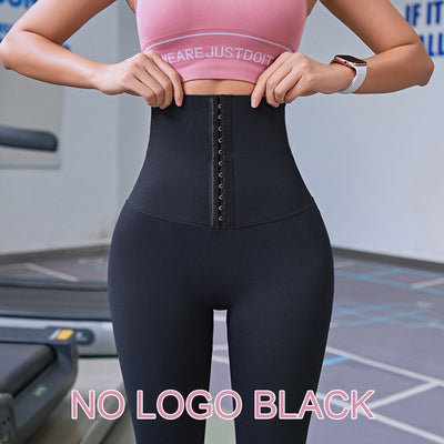 Fitness women corset hip lift postpartum high waist tights yoga pants Waisted Workout leggings Women Gym Running Training Tights - fashionbests