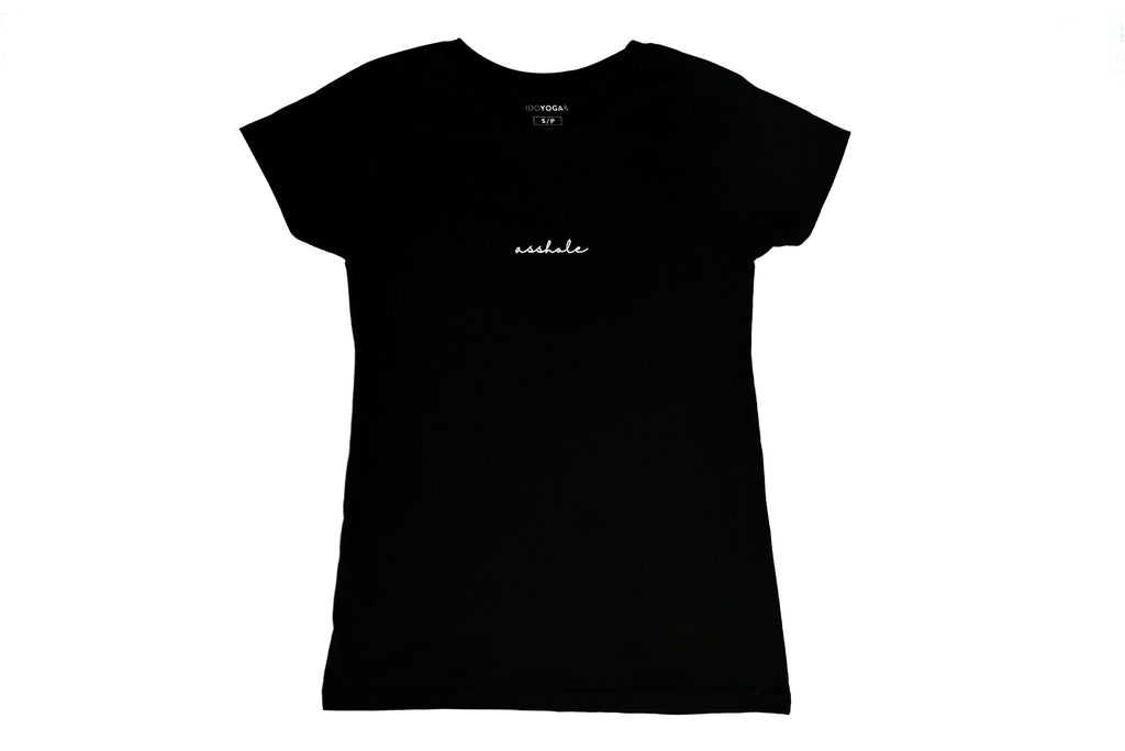 ASSHOLE T-SHIRT WOMEN - Black