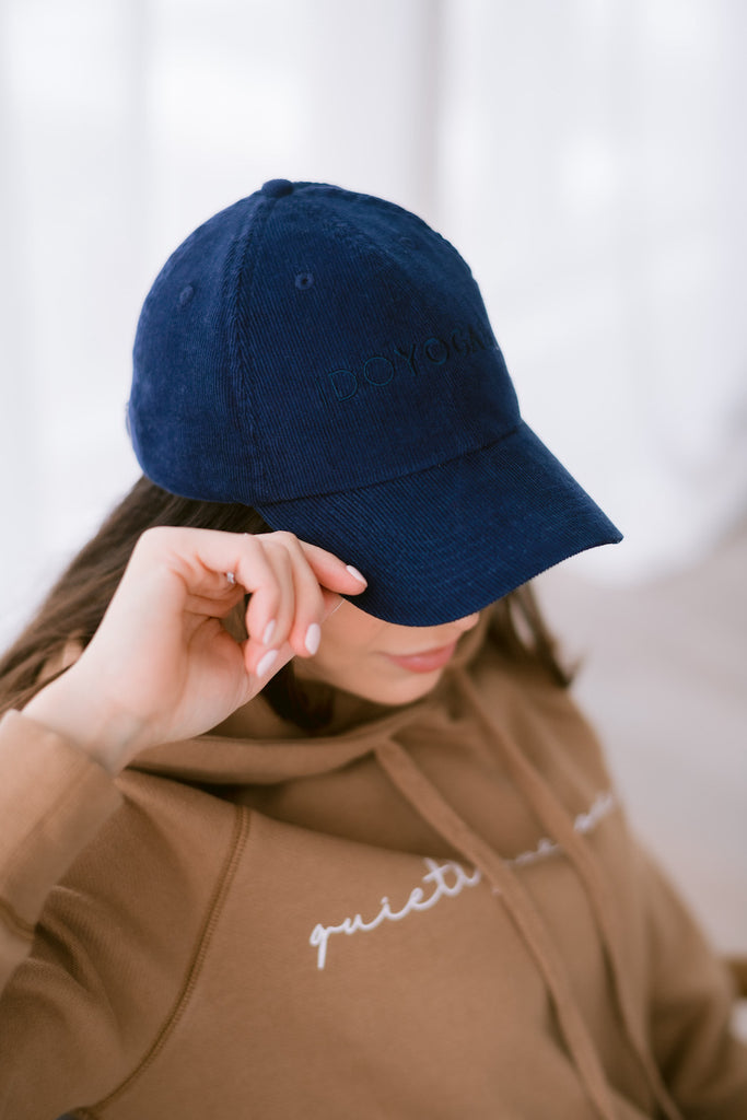 THE AUDLEY CAP - Navy Corduroy