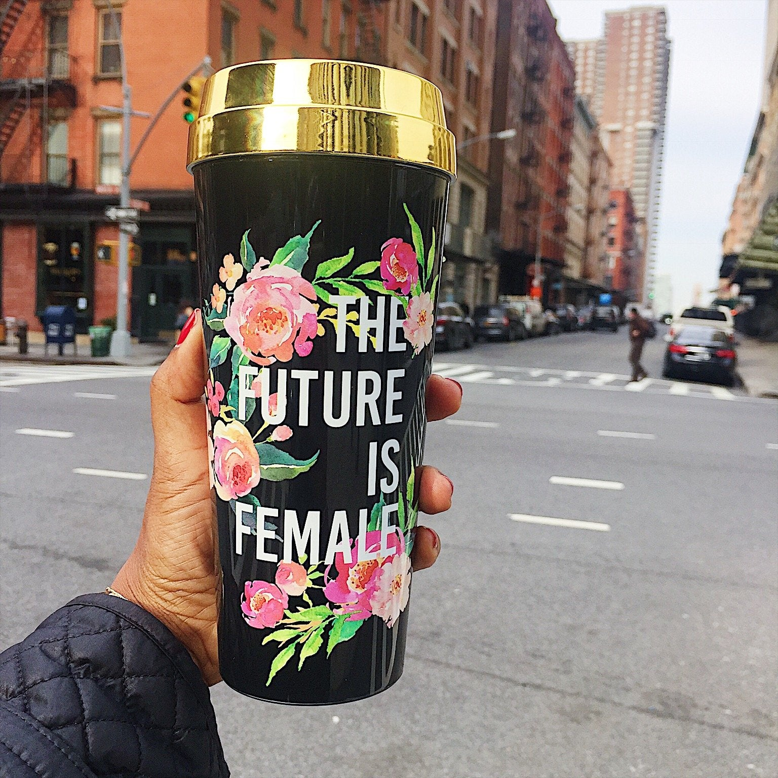 The Future Is Female :: Travel Mug - [BDP Apparel]