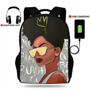 17-inch Melanin Backpack - [BDP Apparel]