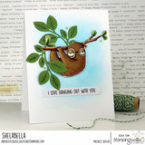 Oddball Sloth Cling Stamp by Stamping Bella - Kat Scrappiness