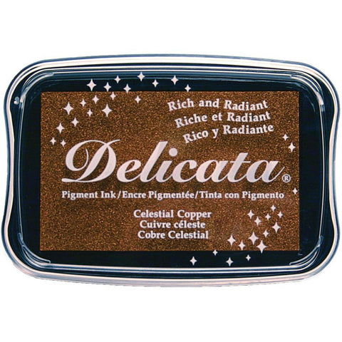 Celestial Copper Pigment Ink Pad by Delicata - Kat Scrappiness