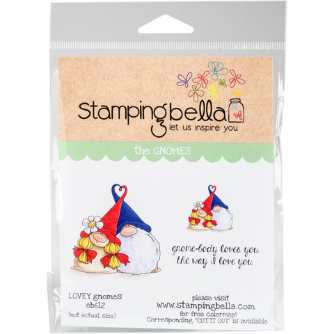 Lovey Gnomes Cling Stamp by Stamping Bella - Kat Scrappiness