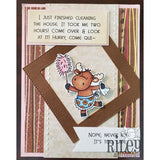 Too Late Cling Stamp by Riley & Co - Kat Scrappiness