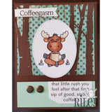 Coffeegasm Cling Stamp by Riley & Co - Kat Scrappiness