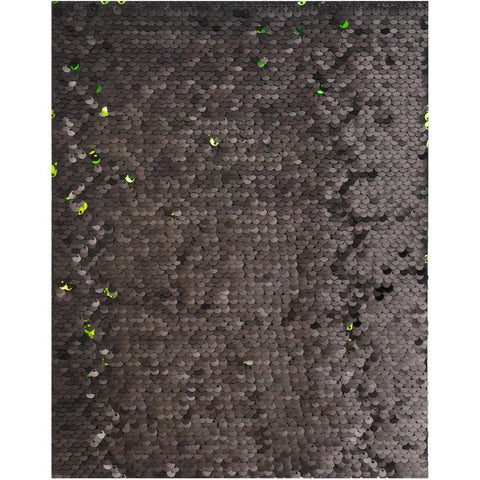 "American Crafts Flip Sequin Specialty Paper 8.5""X11"" - Black & Green"