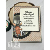 Standing Witch With Broom Cling Stamp by Riley & Co