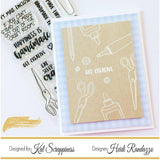 "Crafters Gonna Craft 4""x6"" Clear Stamp Set by Kat Scrappiness"
