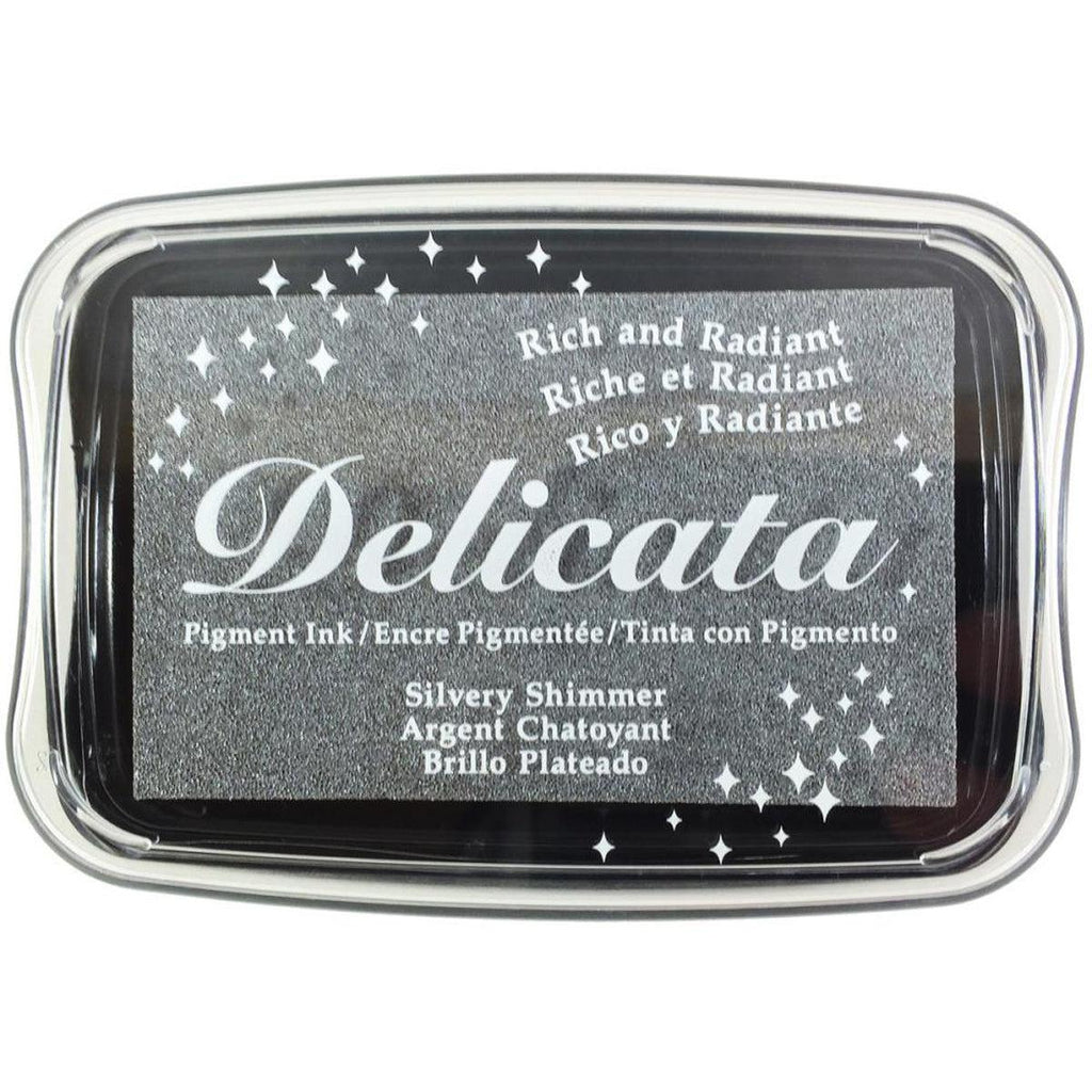 Silvery Shimmer Pigment Ink Pad by Delicata - Kat Scrappiness