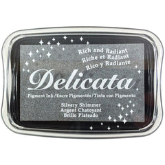 Silvery Shimmer Pigment Ink Pad by Delicata