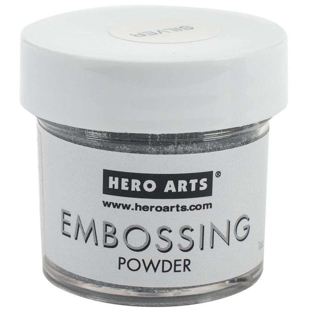 Silver Sparkle Embossing Powder by Hero Arts - Kat Scrappiness