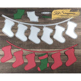 Christmas Stocking Banner Die by Kat Scrappiness