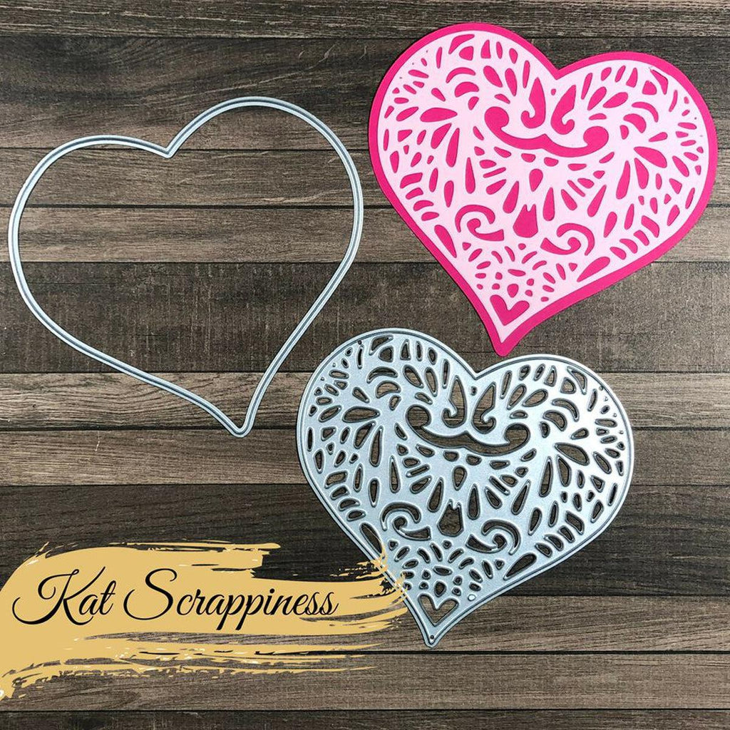 Lacy Layered Heart Dies by Kat Scrappiness