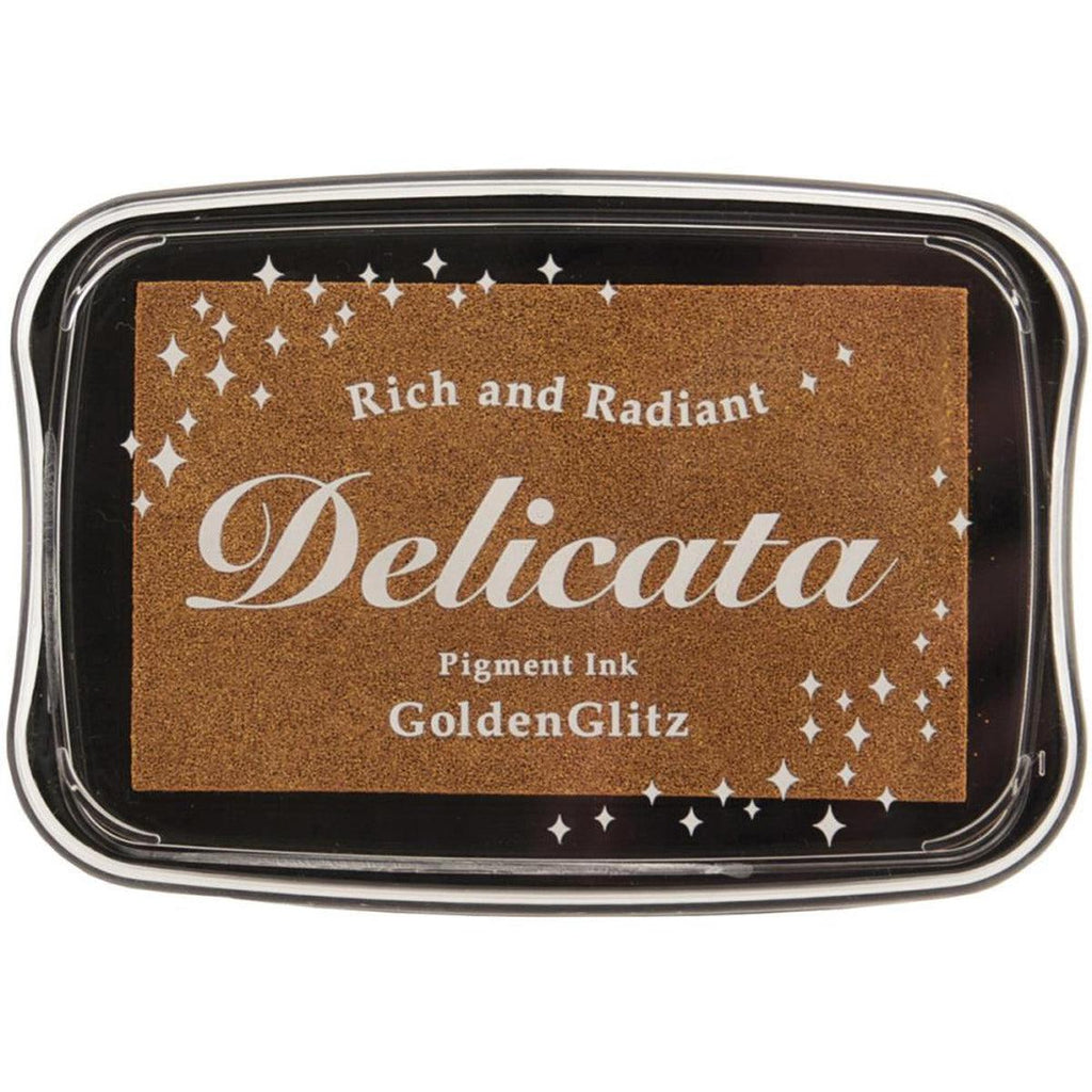Golden Glitz Pigment Ink Pad by Delicata - Kat Scrappiness