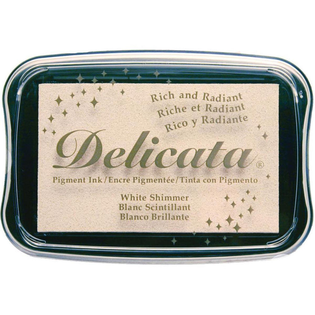 White Shimmer Pigment Ink Pad by Delicata - Kat Scrappiness