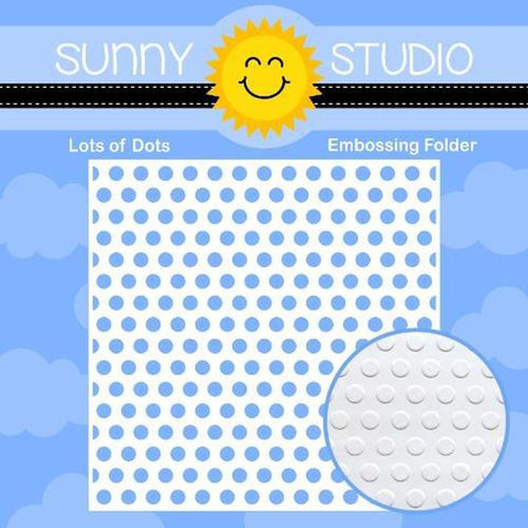 "Lots of Dots 6""x6"" Embossing Folder by Sunny Studio Stamps - Kat Scrappiness"