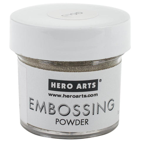 Gold Glitter Embossing Powder by Hero Arts - Kat Scrappiness