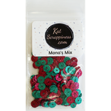 Mona's Mix - Glitter Sequin Mix - Shaker Card Fillers - NEW! - Kat Scrappiness