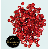 Christmas Red Sequin Mix - Kat Scrappiness