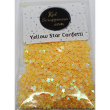 3mm Yellow Solid Star Confetti Mix - Shaker Card Fillers - Kat Scrappiness