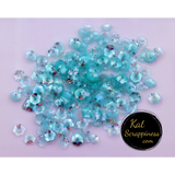6mm Translucent Mint Flower Blossom Sequins - Kat Scrappiness