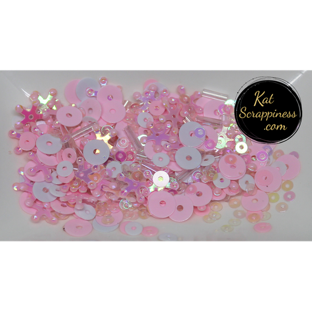 Bubblegum Sprinkles Sequin Mix - Shaker Card Fillers - Kat Scrappiness