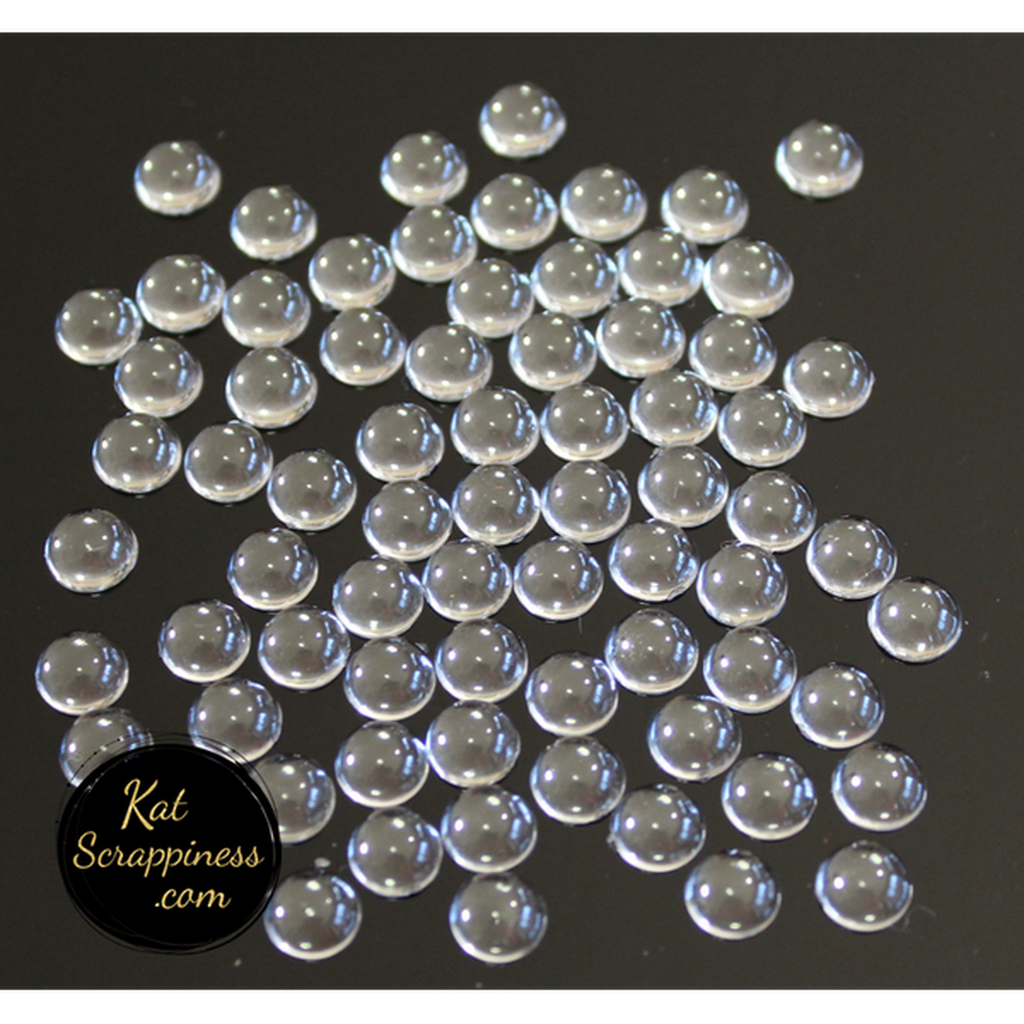 6mm Sparkling Clear Droplets (Medium) - Kat Scrappiness