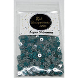 Aqua Shimmer Sequin Mix - Shaker Card Fillers - Kat Scrappiness