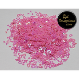 Pink (Hollow) Heart Confetti Mix - Kat Scrappiness