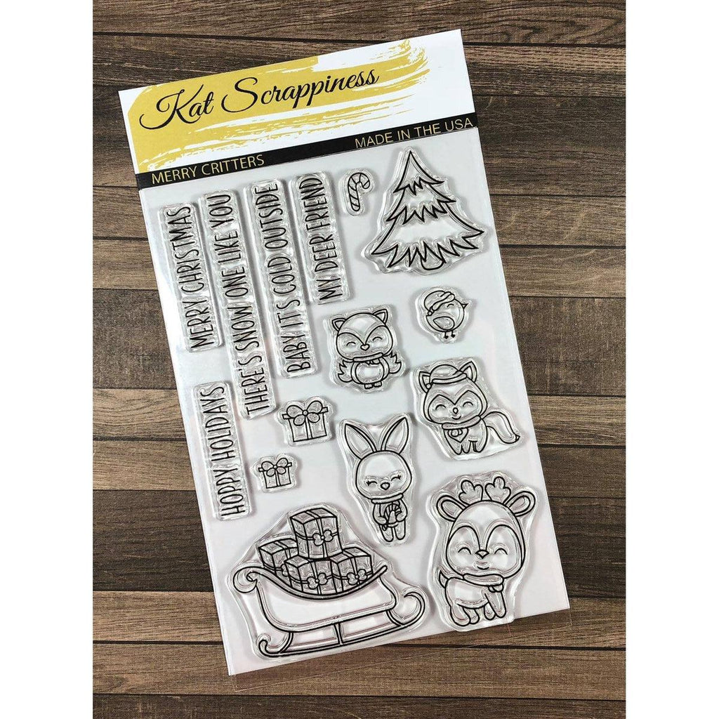 """Merry Critters"" Stamp Set by Kat Scrappiness - Kat Scrappiness"