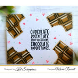 Chocolate Lover's Sentiment Stamp Set by Kat Scrappiness